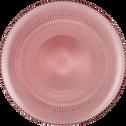 Assiette plate en verre rouge D28.5cm-KANZ