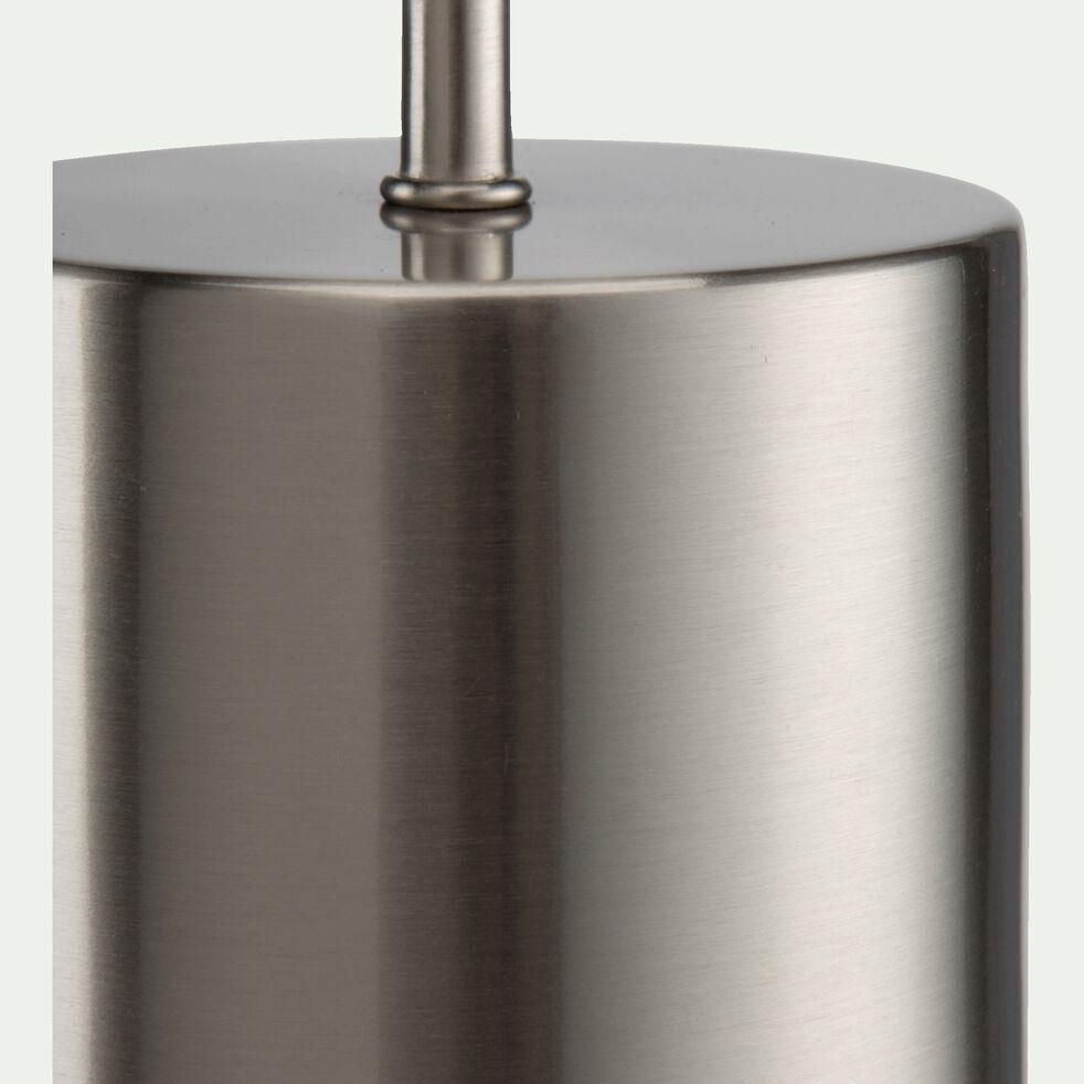 Lampe à poser en acier - D10xH41cm argenté-AGATHA