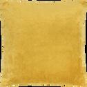 Coussin brodé jaune 40x40cm-BAHNA