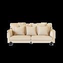 Canapé 4 places fixe en tissu beige roucas-LENITA