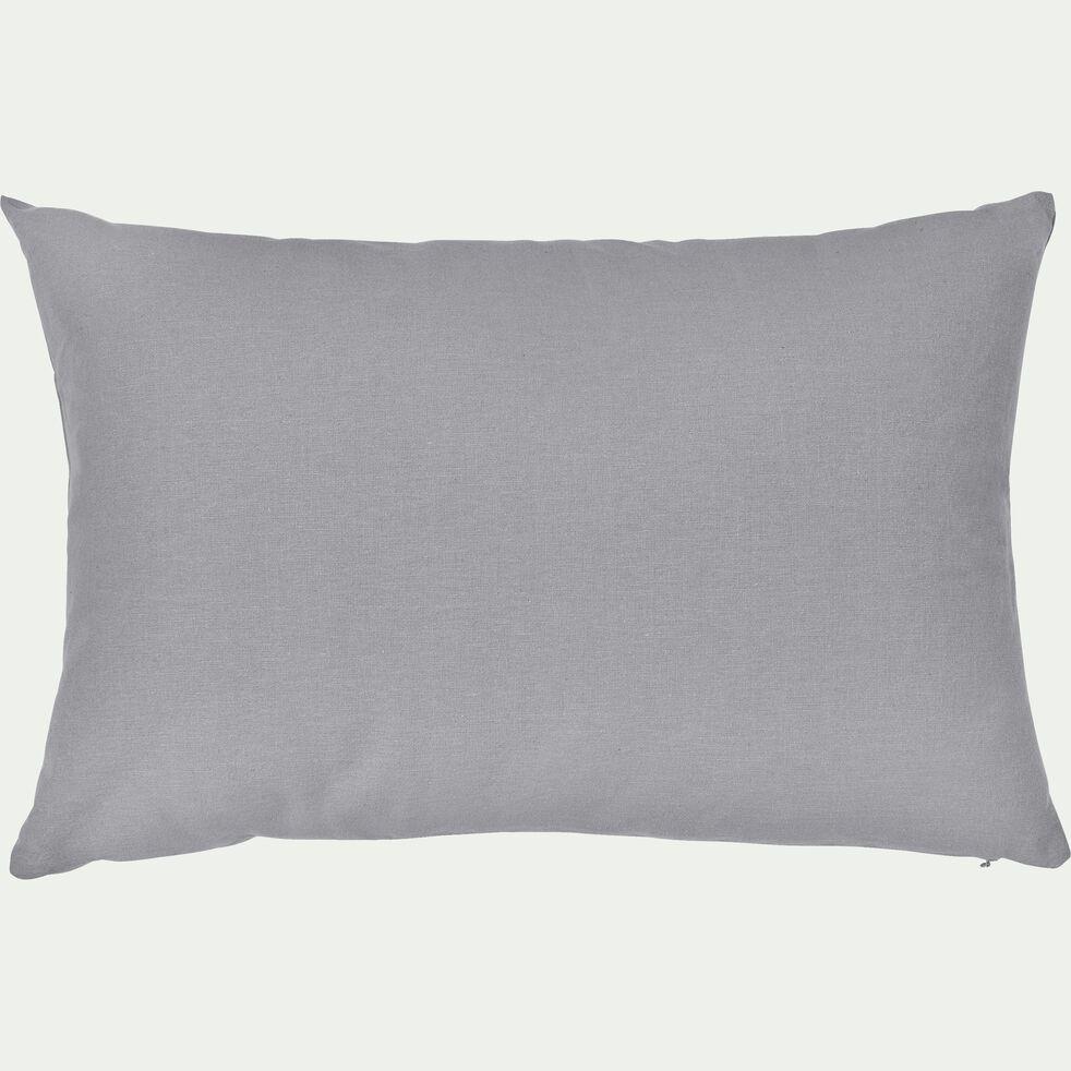 Coussin en coton gris restanque 40x60cm-CALANQUES
