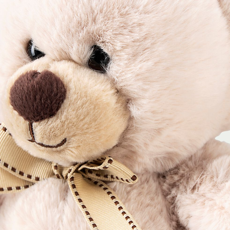 Peluche ours - beige h31cm-Polo