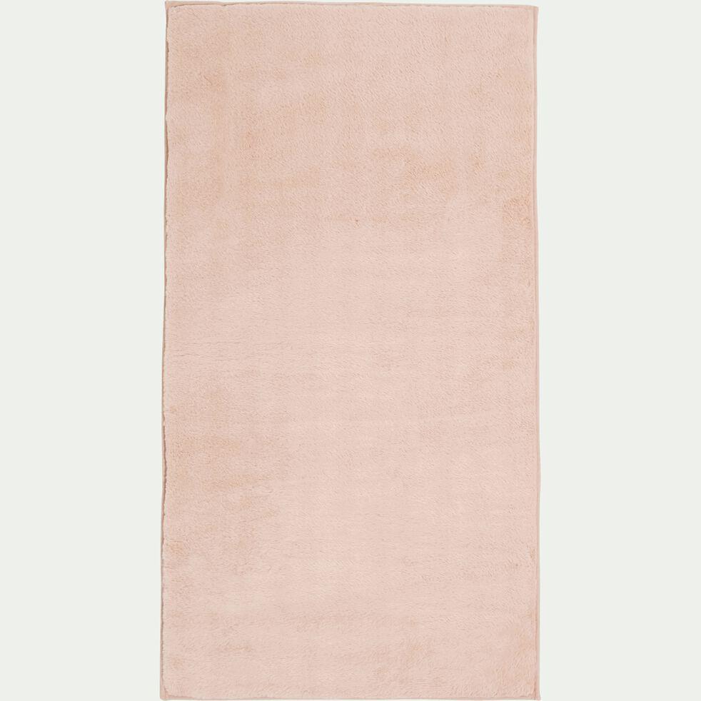 Tapis imitation fourrure - rose argile 60x110cm-ROBIN