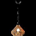 Suspension géométrique en métal cuivré D32,5cm-TARBES