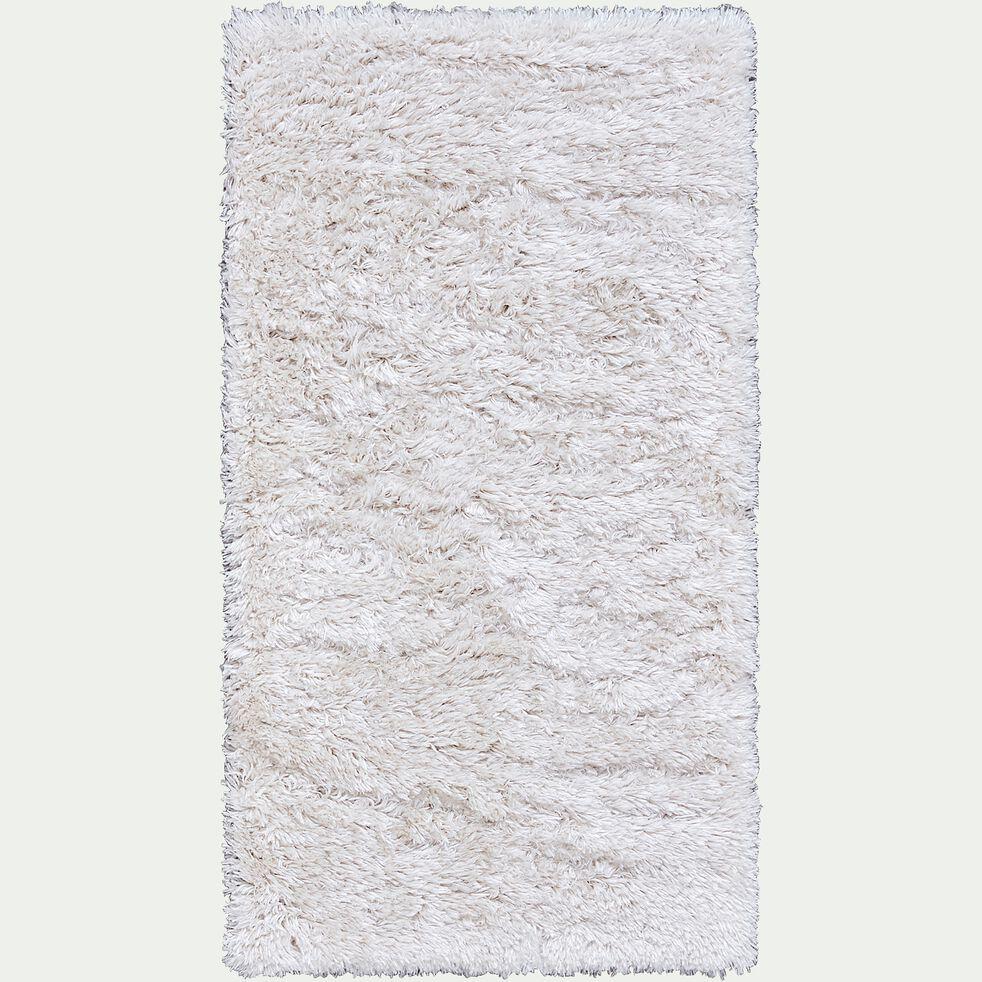 Tapis imitation fourrure - blanc 60x110cm-mala