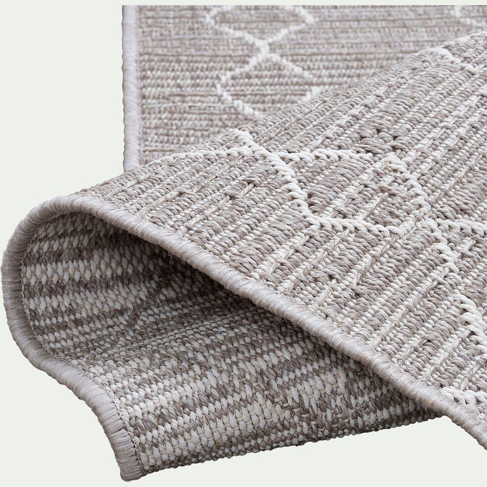 Tapis intérieur et extérieur inspiration berbère - gris 60x110cm-latin