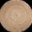 Tapis rond en jute D180cm-RUSH
