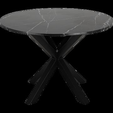 Table de repas en marbre noir - 2 à 4 places-NAPOLI