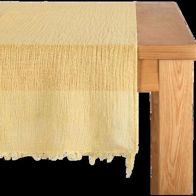 Chemin de table en lin jaune 40x150cm-ICARE