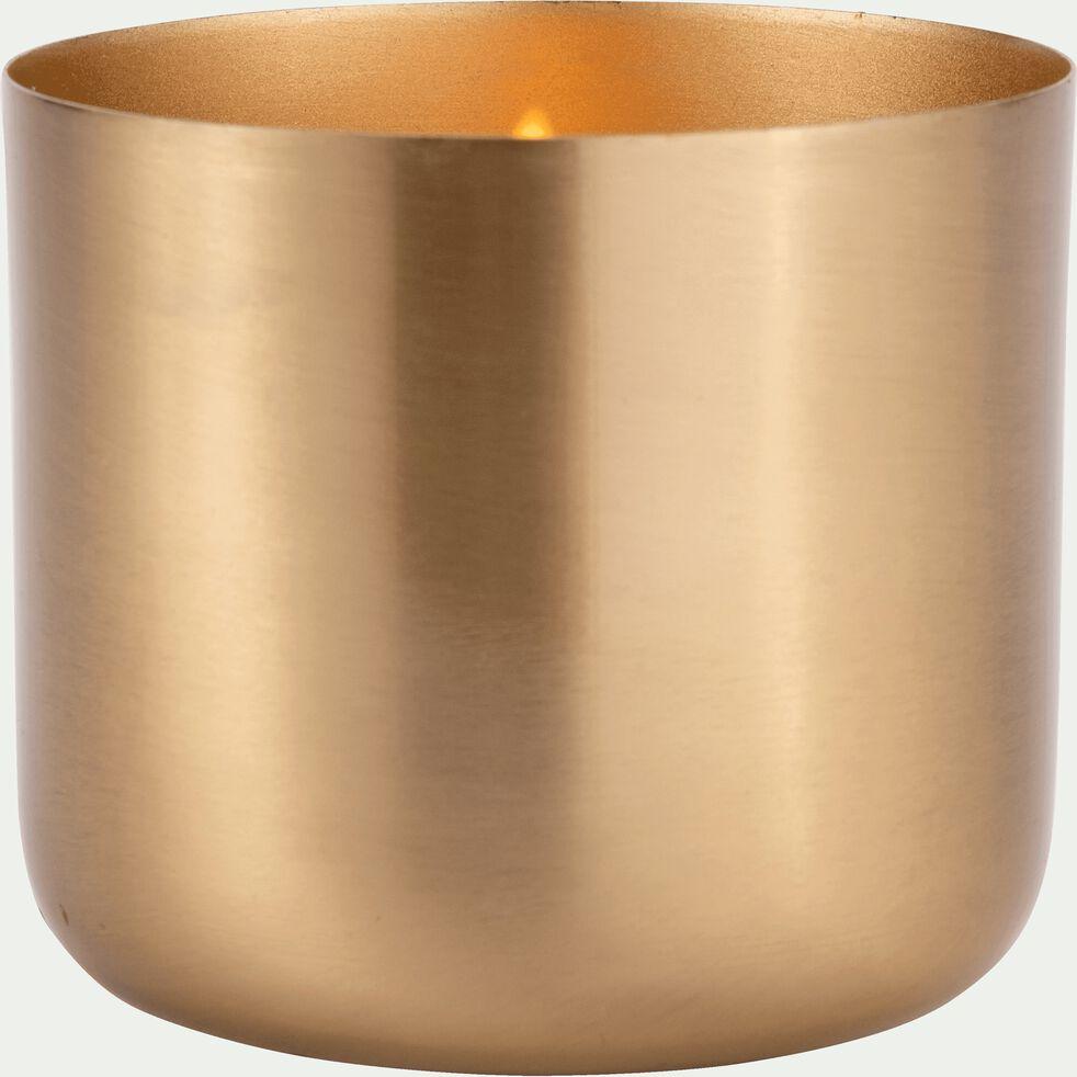 Bougie structure métal - doré 425g-EPSILON