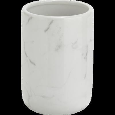Gobelet effet marbre blanc-MOUNE