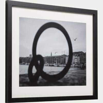 Image encadrée noir et blanc 40x50cm-MADRAGUE