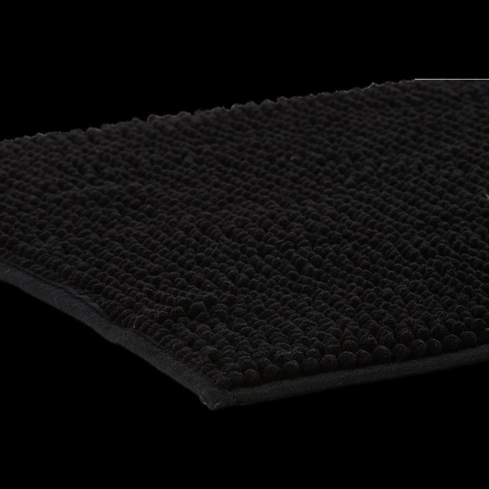 Tapis de bain 50x80cm noir-PICO