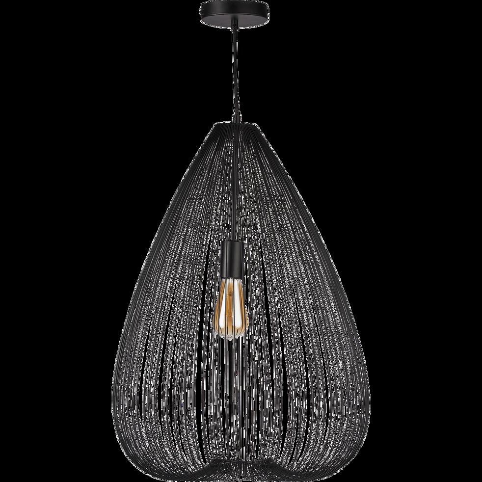suspension en m tal filaire noir h65xd45cm claudine. Black Bedroom Furniture Sets. Home Design Ideas