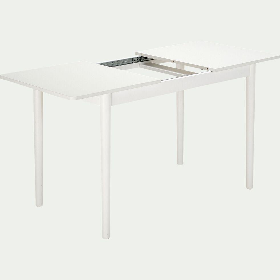 Table de repas extensible en bois - blanc 4 à 6 convives-PEDRO