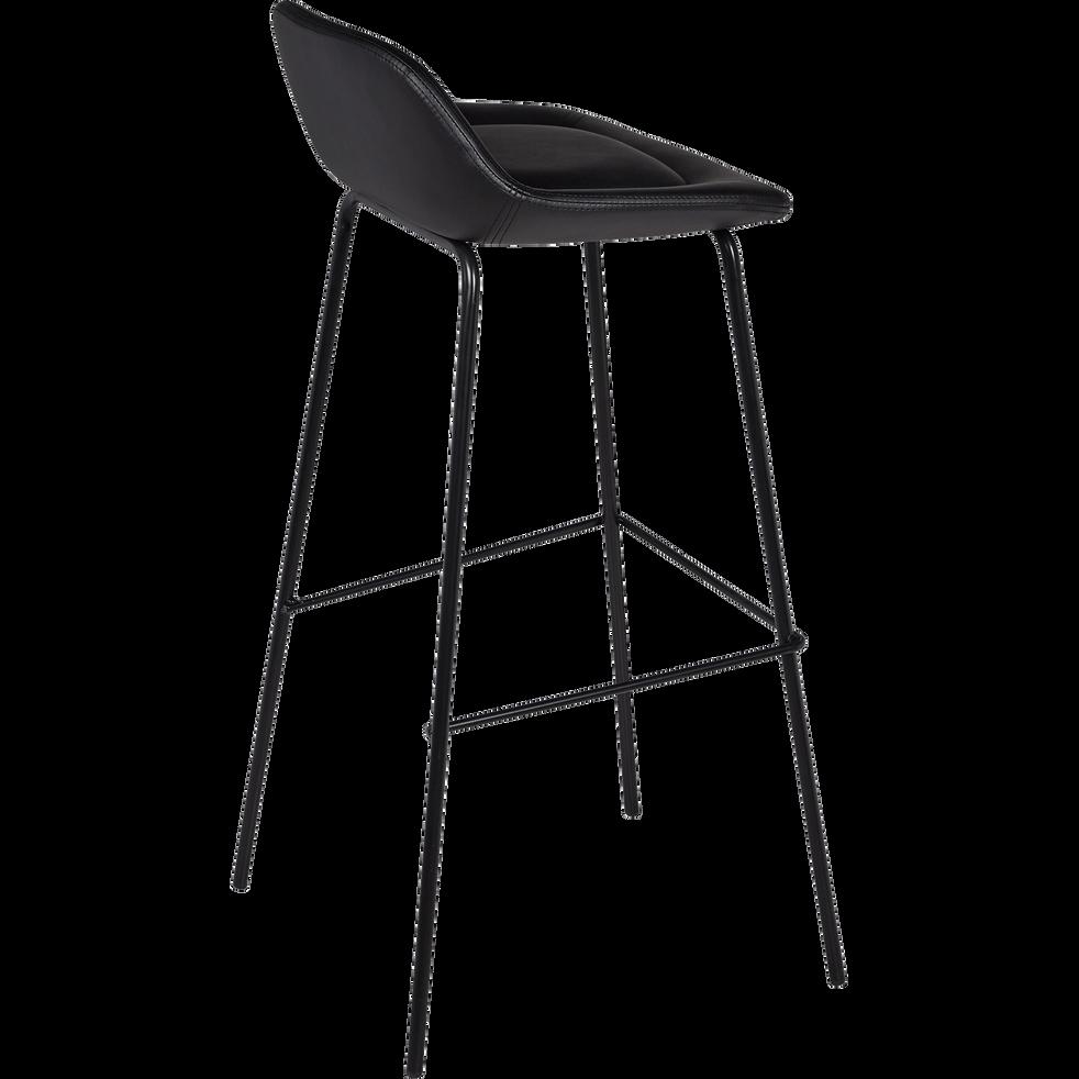 rencontrer c4dc0 1a243 FIRMIN - Chaise de bar en simili noir - H80cm