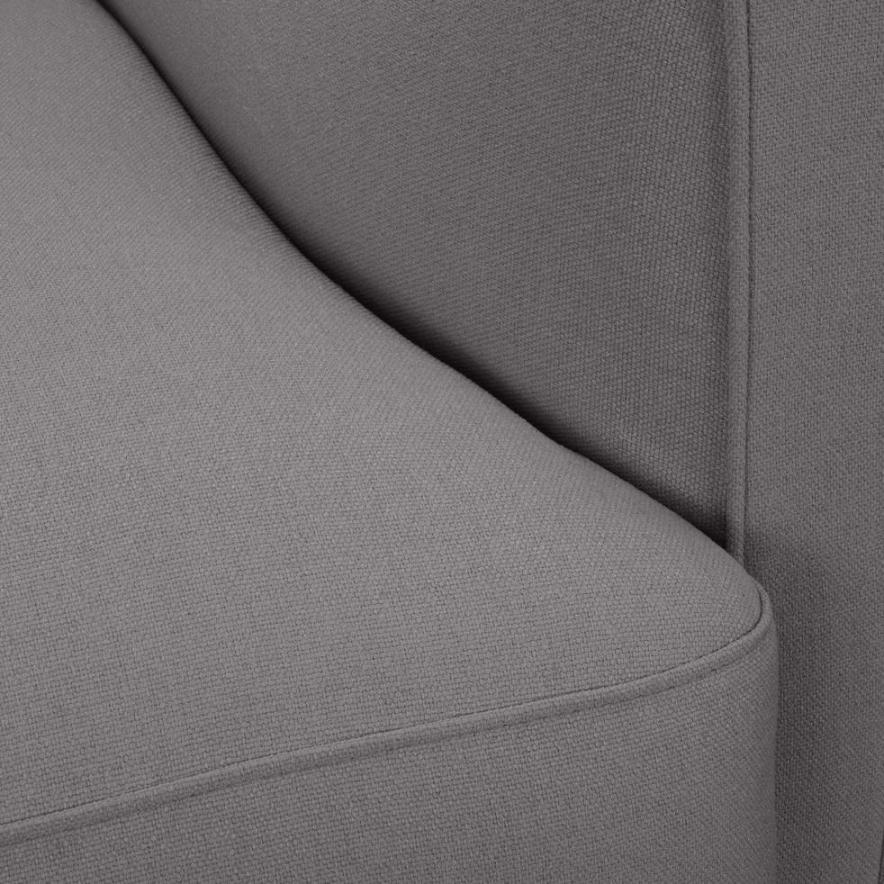 Fauteuil en tissu gris borie-LENITA