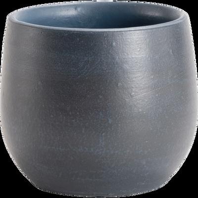 Cache-pot bleu marine en céramique H13xD15cm-ESRA