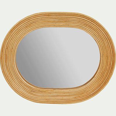 Miroir ovale en rotin - naturel L26xl61cm-TALEO