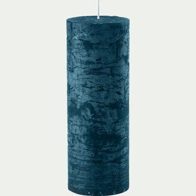 Bougie cylindrique - bleu figuerolles H19cm-BEJAIA