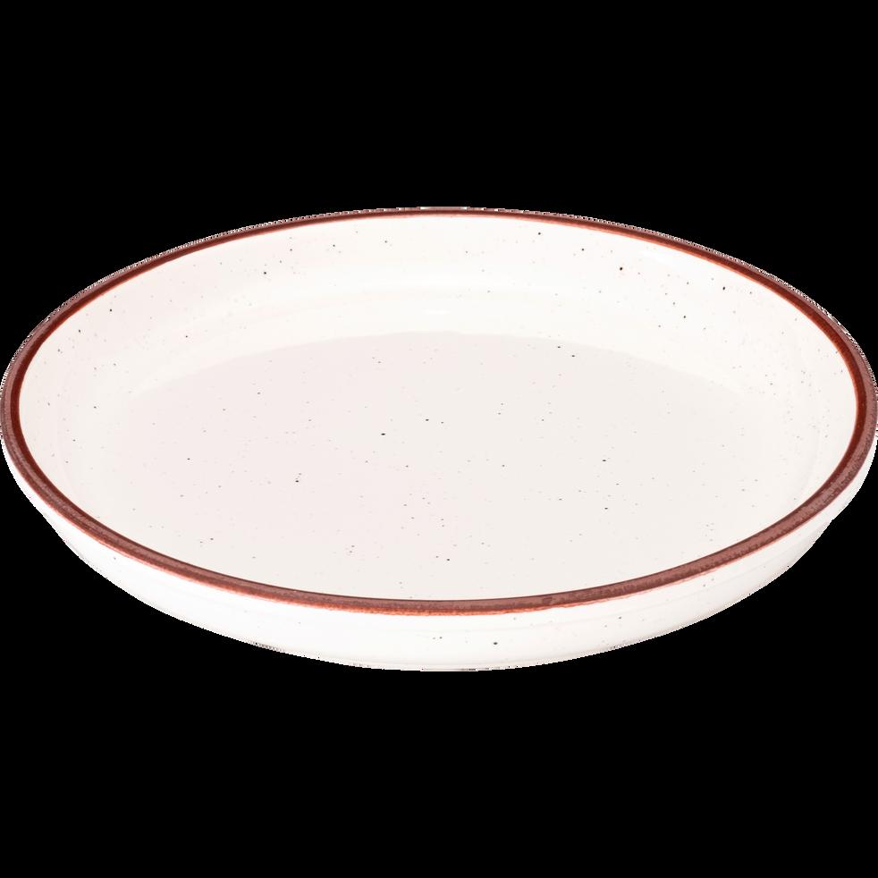 assiette dessert en fa ence blanche mouchet e d22cm astre assiettes dessert alinea. Black Bedroom Furniture Sets. Home Design Ideas