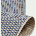 Tapis intérieur et extérieur motif nid d'abeille - bleu 160x230cm-Baudouin