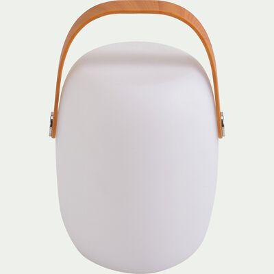 Lampe nomade extérieur - blanc D18xH27cm-FLUVI