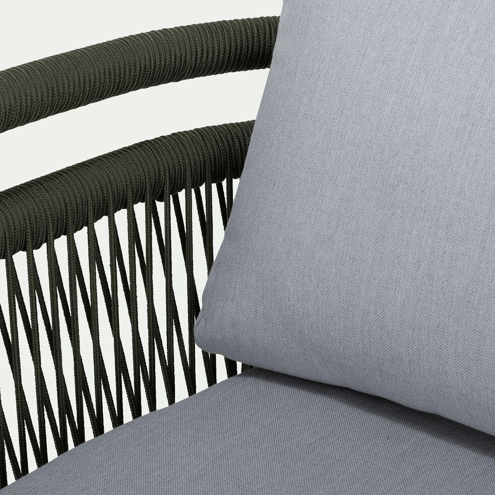 Salon de jardin en aluminium - vert cèdre (5 places)-MARIBEL
