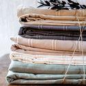 Couvre-lit tissé en coton - beige roucas 180x230cm-BELCODENE
