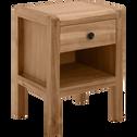 Table de chevet en acacia massif 1 tiroir-GAIA