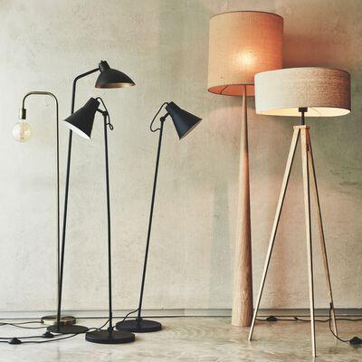 Pied de lampadaire en bois - chêne H157cm-KONE