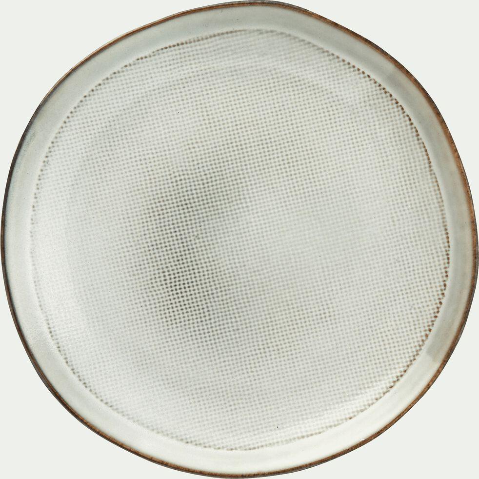 Assiette à dessert en grès blanc D20cm-ALONG