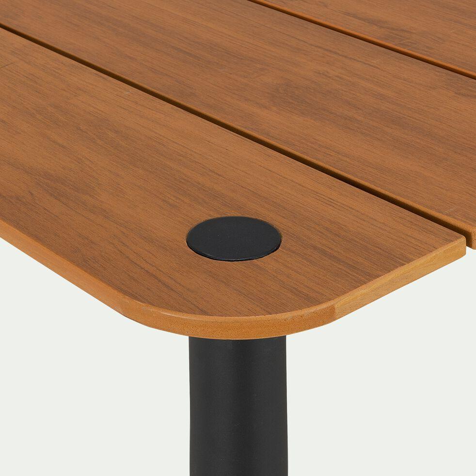 Table de jardin effet bois et aluminium - naturel (6 places)-MASCA