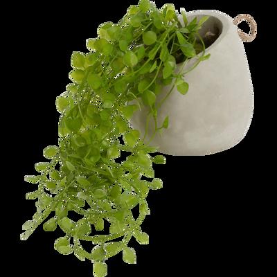 Lierre artificiel en pot à suspendre D16cm-PLANTE