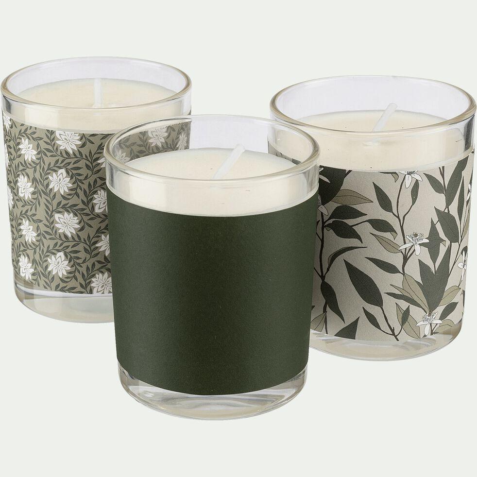 Coffret de trois bougies senteurs Jasmin, Notre Parfum et Fleur d'Oranger-JASN/PARFFL/OR
