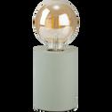 Lampe à poser en béton vert olivier H12,5xD9cm-PRAO