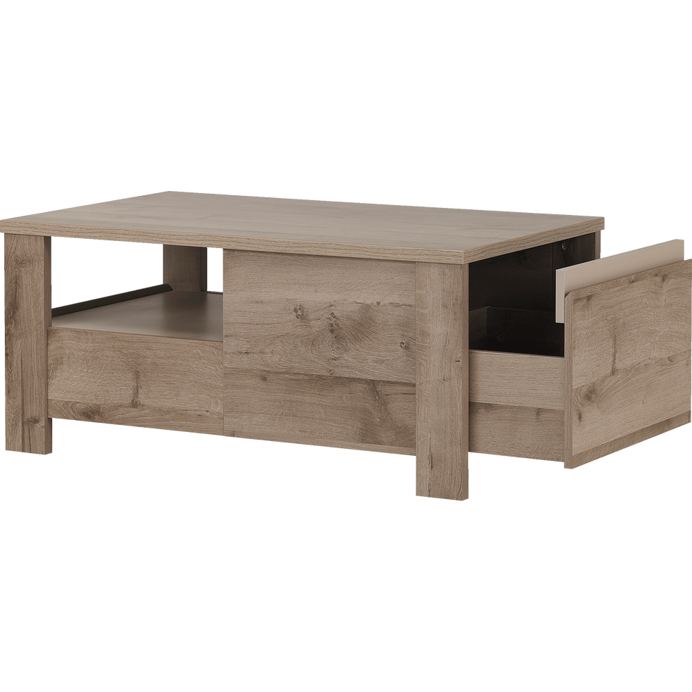 table basse bicolore avec 2 tiroirs sha tables basses alinea. Black Bedroom Furniture Sets. Home Design Ideas