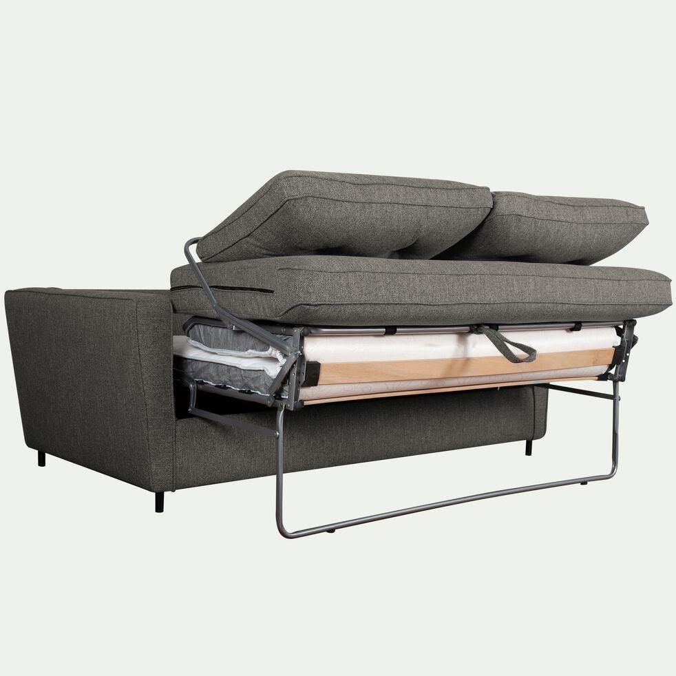 Canapé convertible 3 places en tissu - gris restanque-BARTHOLE