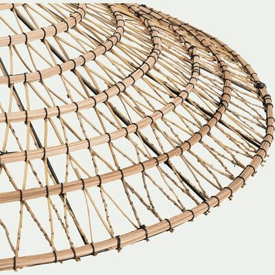 Suspension en fibre de palmier non électrifiée - naturel D88cm-VEGETAL