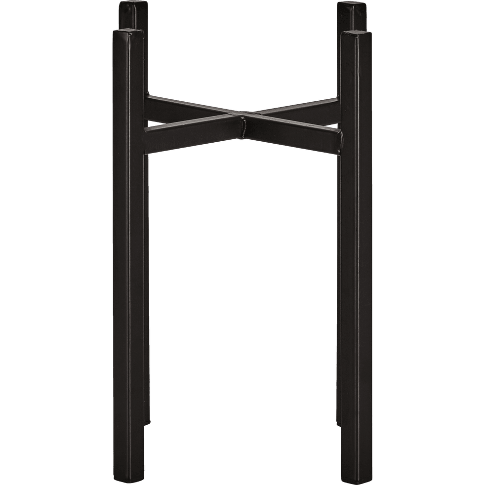 Porte-plante en métal noir H25xD16,5cm-ASCOT