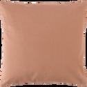 Coussin en coton beige 40x40cm-CALANQUES