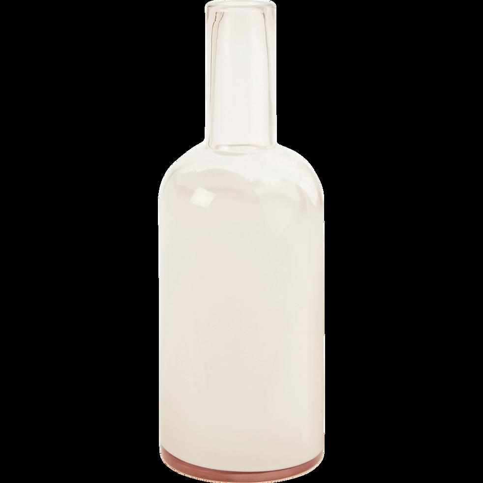 Bouteille en verre rose D8,5cm-FENDI