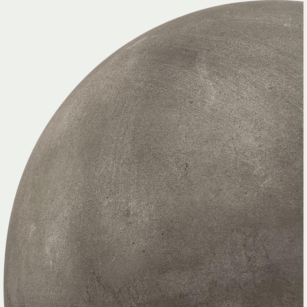 Boule décorative d'extérieur en résine - gris foncé D26cm-ATLAN
