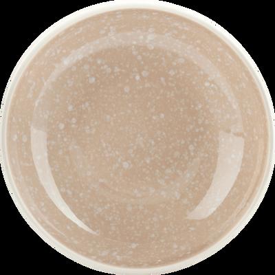 Assiette creuse en faïence rose argile D16cm-CAMELIA