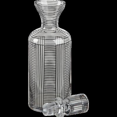 Carafe en verre décoré avec bouchon 1.2L-GRAPHIC