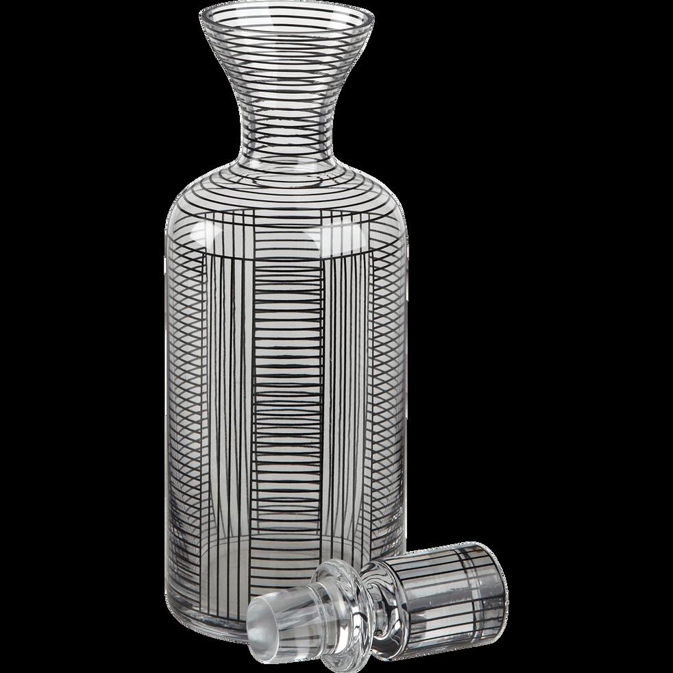 carafe en verre d cor avec bouchon 1 2l graphic pichets bouteilles et carafes alinea. Black Bedroom Furniture Sets. Home Design Ideas