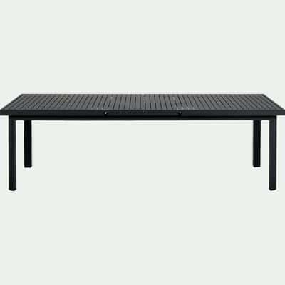 Table de jardin | extensible, pliante, alu, bois - black ...