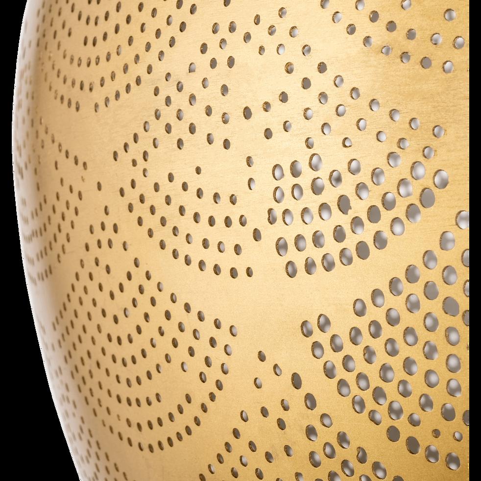 Suspension en métal perforé doré D40cm-DIWALA