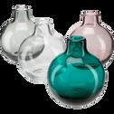 Vase rond en verre transparent H11 cm-TAPHOS