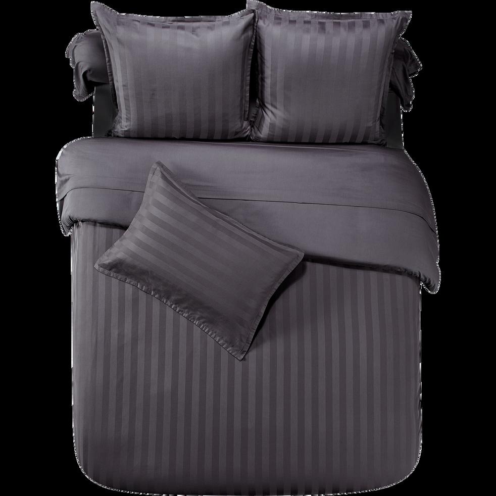 housse de couette en coton satin gris fonc 240x220 cm marco 240x220 cm housses de. Black Bedroom Furniture Sets. Home Design Ideas